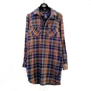 Ralph Lauren RUGBY Rare Plaid Flannel Dress